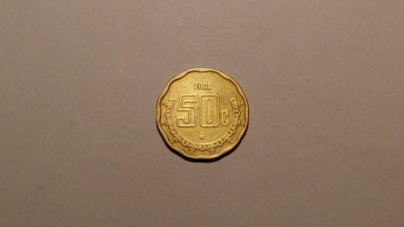 Мексика 50 сентаво 2008 года