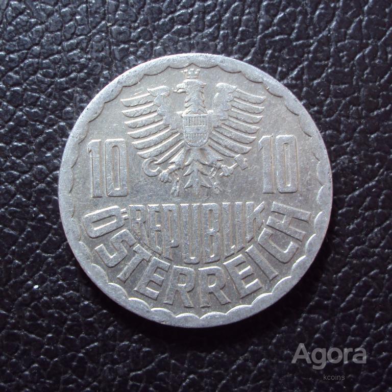 Австрия 10 грошей 1987 год.