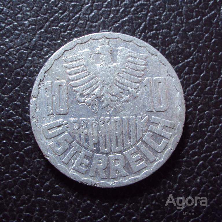 Австрия 10 грошей 1955 год.