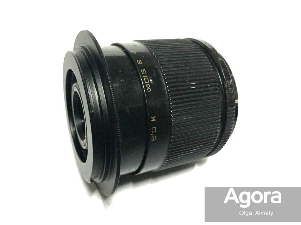 Макро-объектив Индустар 61Л/3 с переходником на камеру Nikon или Canon