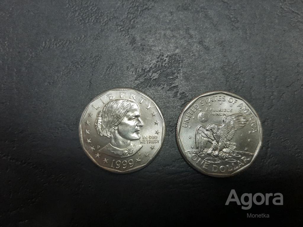 США, 1999 год, 1 доллар, Сьюзен Энтони. UNC