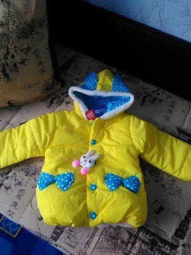 Куртка демисезонная с ушками Зайка
