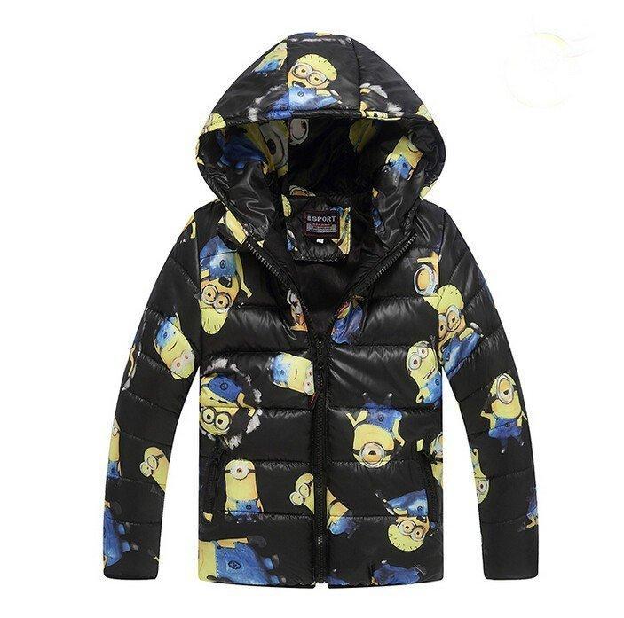 Куртка демисезонная для мальчика Миньоны 4 цвета