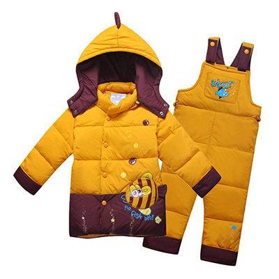 Зимний детский комплект на пуху унисекс