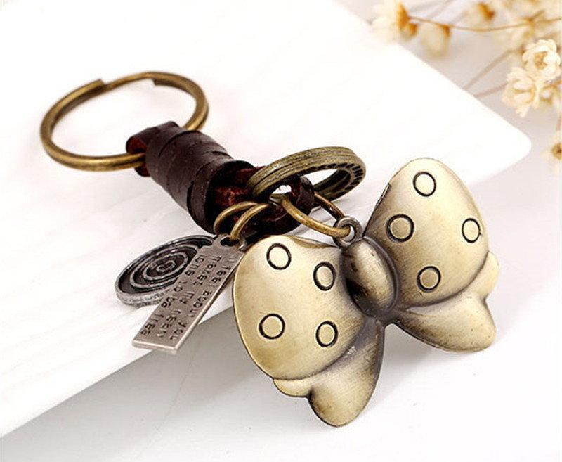 Винтажные кожаные брелоки 9 моделей для ключей