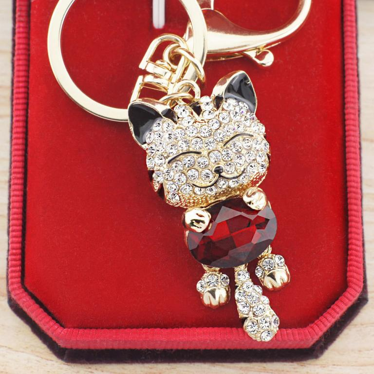 На ключи Брелок гламурный Кошка