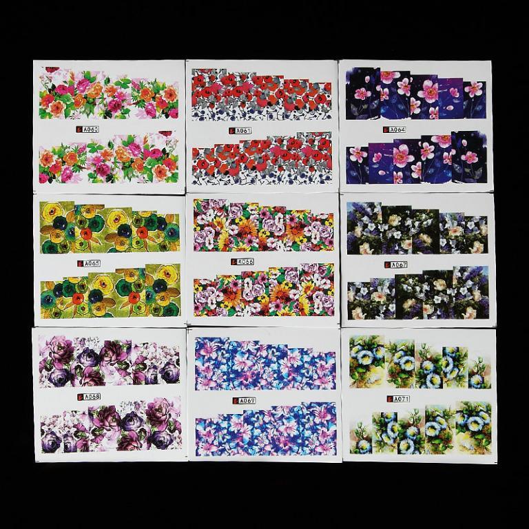 Хит Набор Цветы для фото - дизайна ногтей - 50 шт.