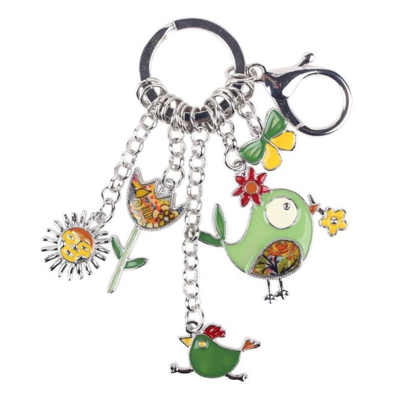 На ключи Брелок мультяшный металлический Птички