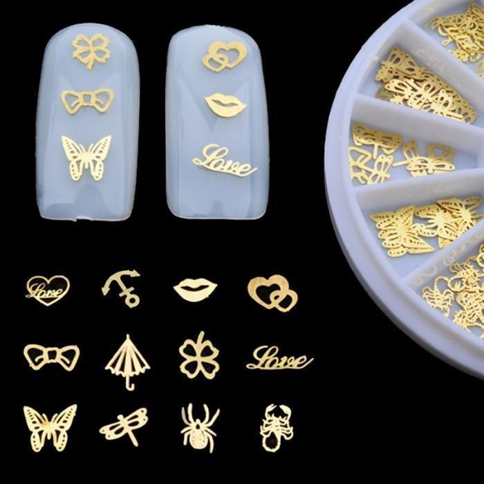 Хит Набор 3D Золото для дизайна ногтей