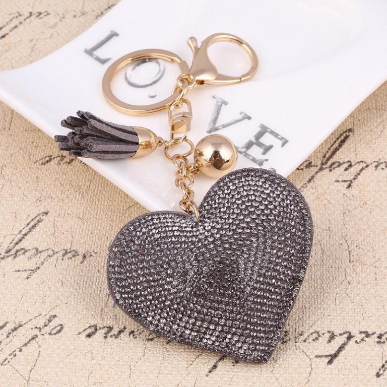 На ключи Брелок Сердце со стразами
