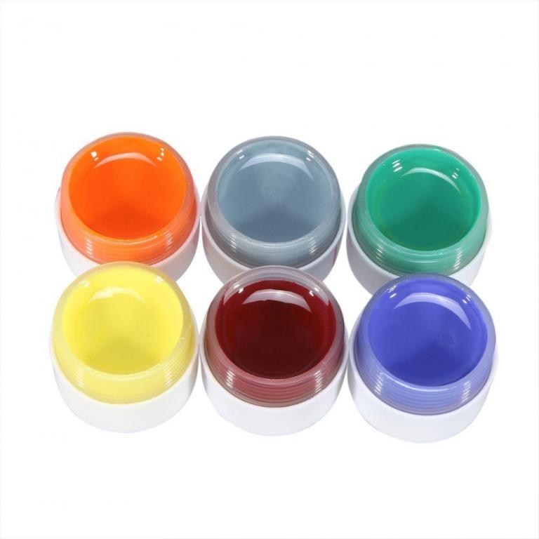Уф гели 6 шт. разные цвета