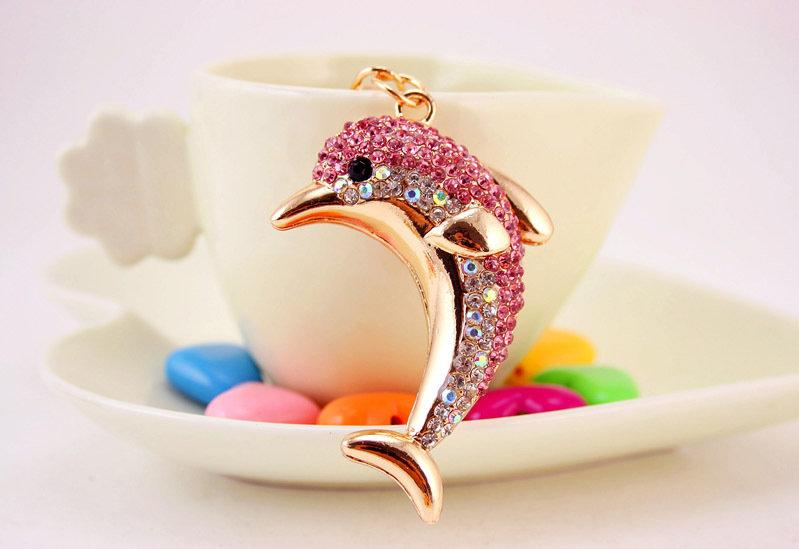 На ключи Брелок со стразами Дельфин