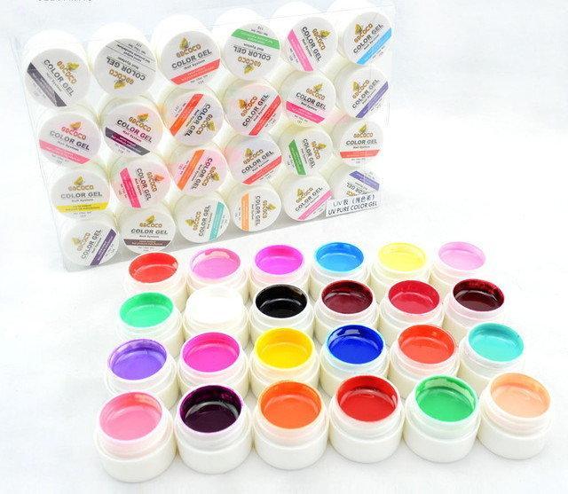 Профессиональный набор Уф - гелей краска 24 шт.