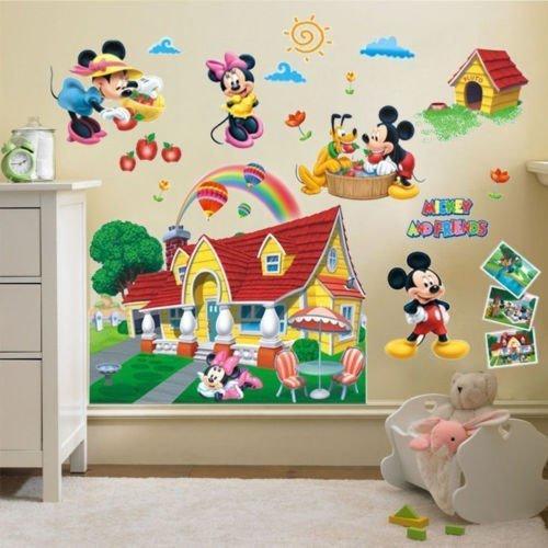 Наклейки стикеры в детскую Микки и Минни Маус