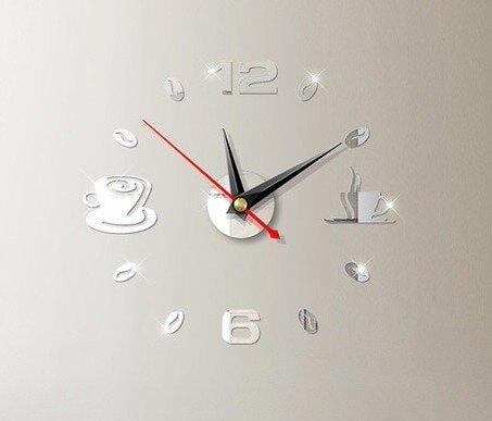 Зеркальные часы Декор для кухни 3 цвета