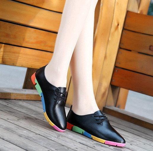 Женские туфли на плоской подошве 4 цвета