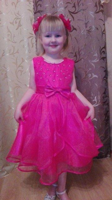 Нарядное детское платье 3 расцветки