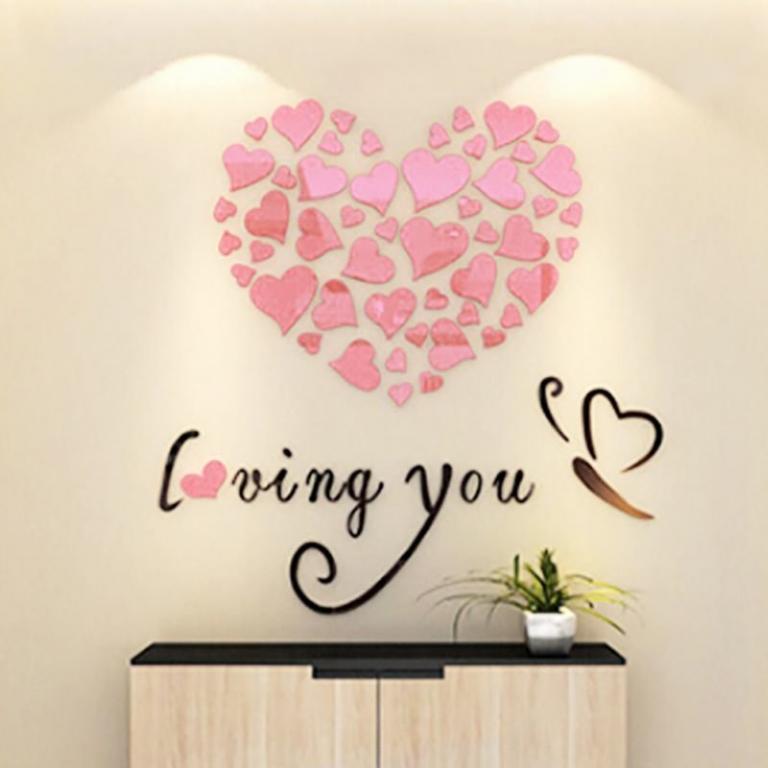 Современный декор наклейки Стикеры Сердце 4 цвета