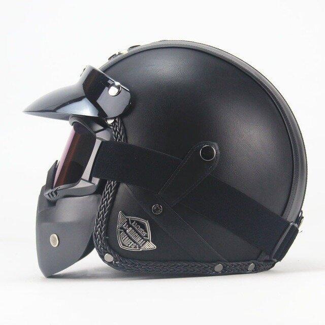 Шлем мотоциклетный чоппер Маска Очки Новинка