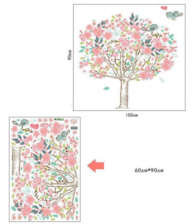 Наклейки Стикеры для декора Дерево