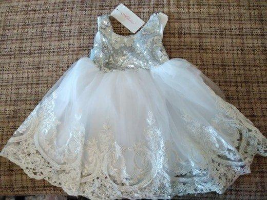 Пышное роскошное платье Серебро Новинка