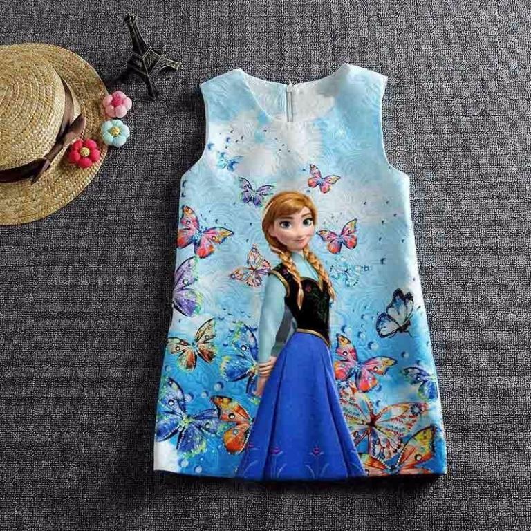 Разноцветное платье Анна и Эльза 11 расцветок
