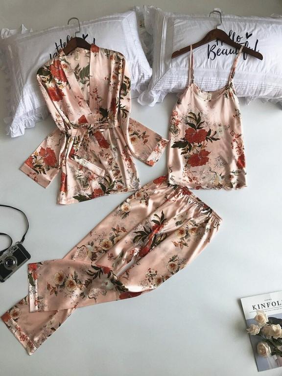 Шелковая Атласная пижама 3 расцветки Новинка