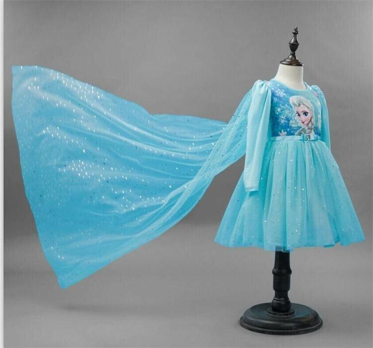 Платье принцесса Эльза и Анна со шлейфом 2 цвета Новинка