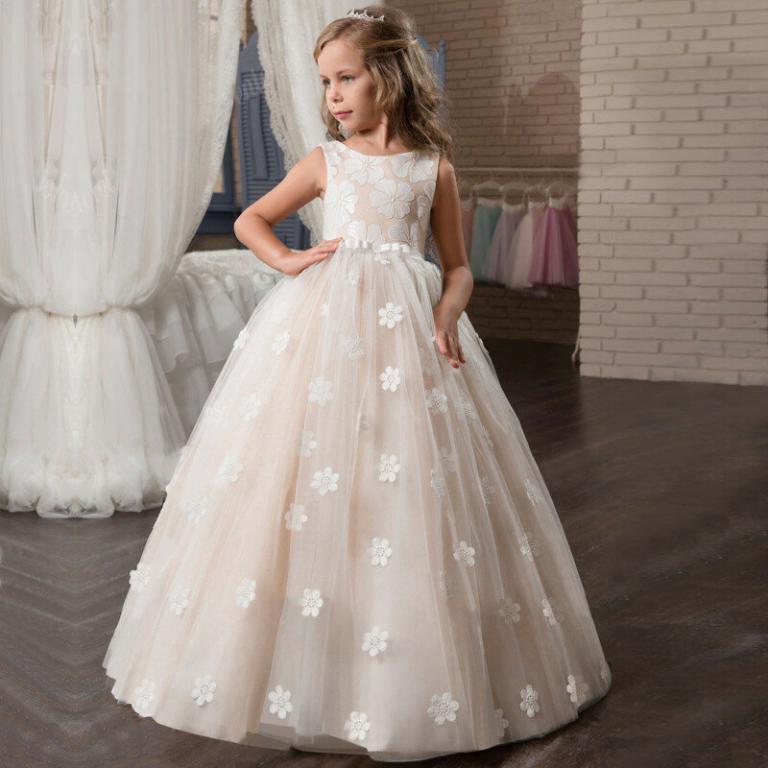 Нарядное длинное платье Цветочный принт 4 цвета