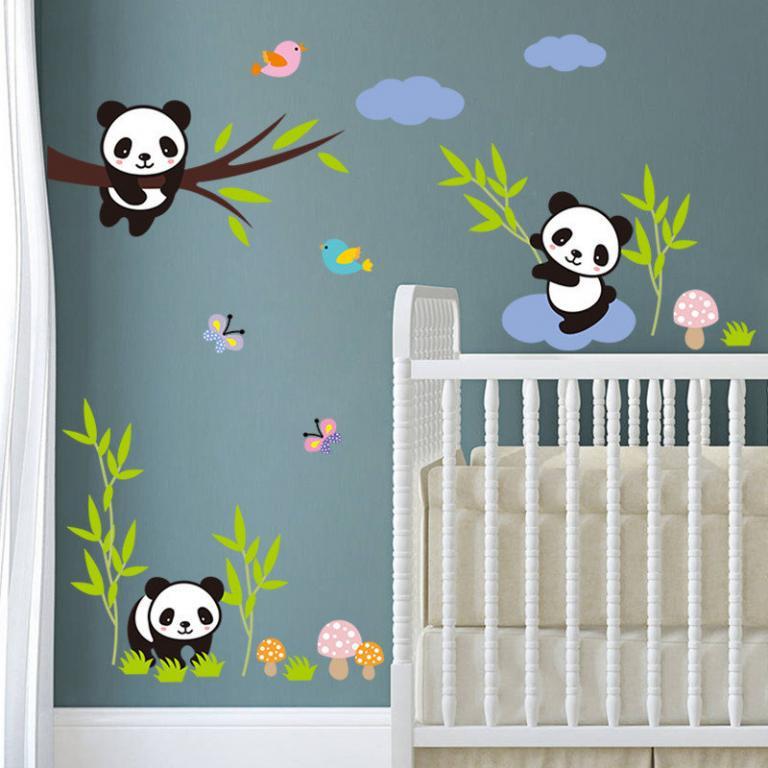 Наклейки в детскую Панда