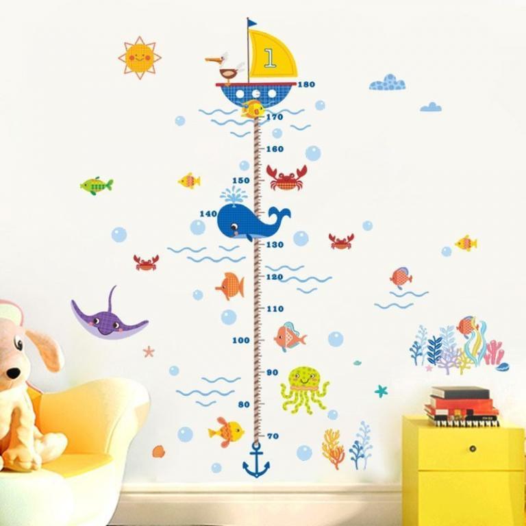 Наклейка в детскую Ростомер Подводный мир
