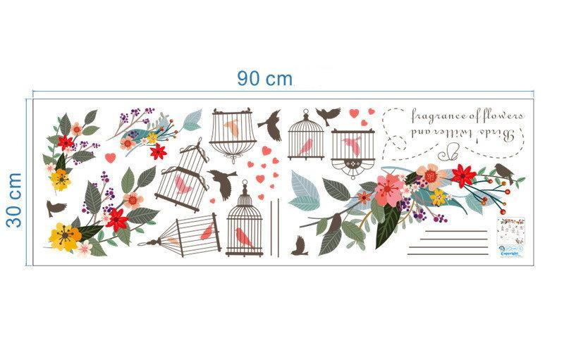 Наклейки Стикеры современный декор Цветы