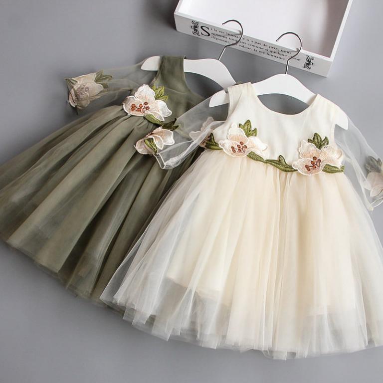 Нарядное платье - вышивка цветы Новинка