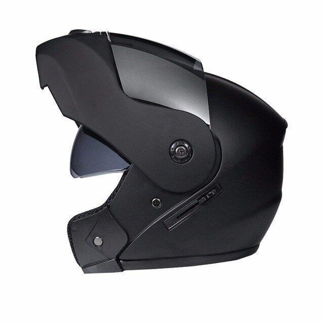 Шлем модуляр с откидным визором и очками Jiekai Новинка