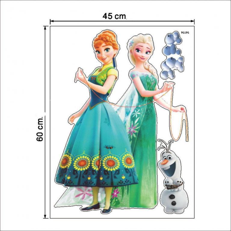 Стикеры Наклейки в детскую Эльза и Анна