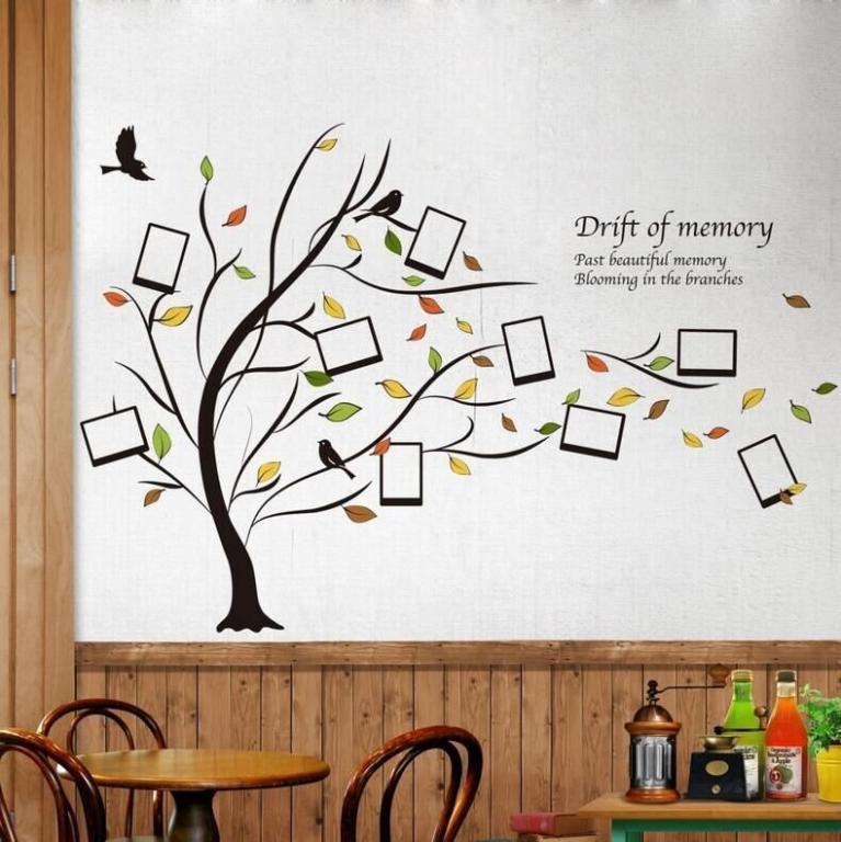 Наклейка Стикер для фото Осень
