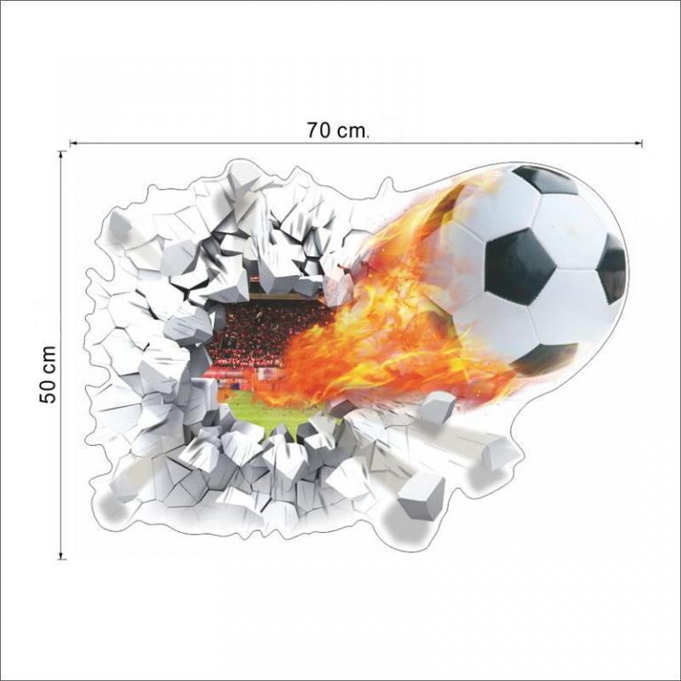 Стикеры Наклейки в детскую Футбольный мяч