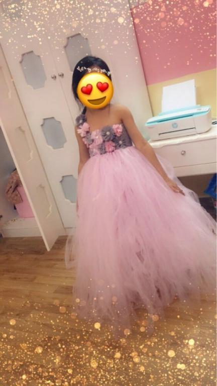 Роскошное нарядное пышное розовое платье Новинка