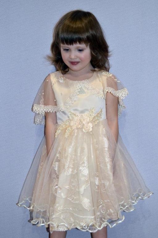 Нарядное платье с пелериной Кружево 4 цвета Новинка