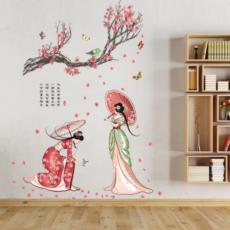 Наклейка для декора Китайский ретро стиль