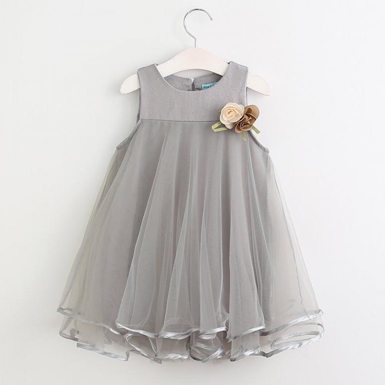 Нежное нарядное платье Розовое Серое Новинка