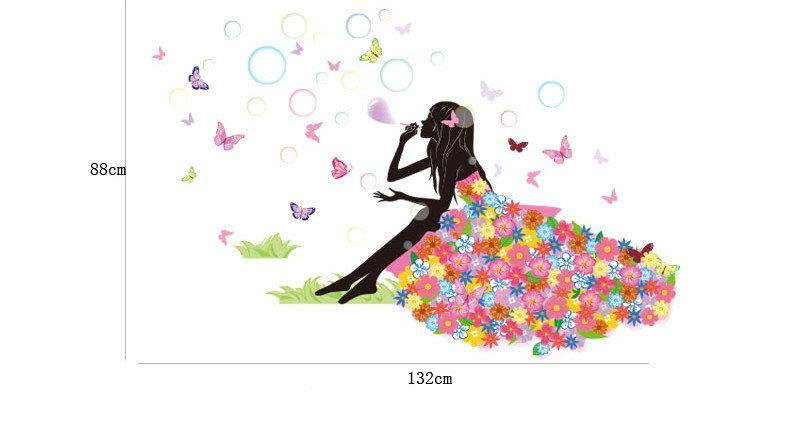 Стикеры Наклейки Цветочная фея