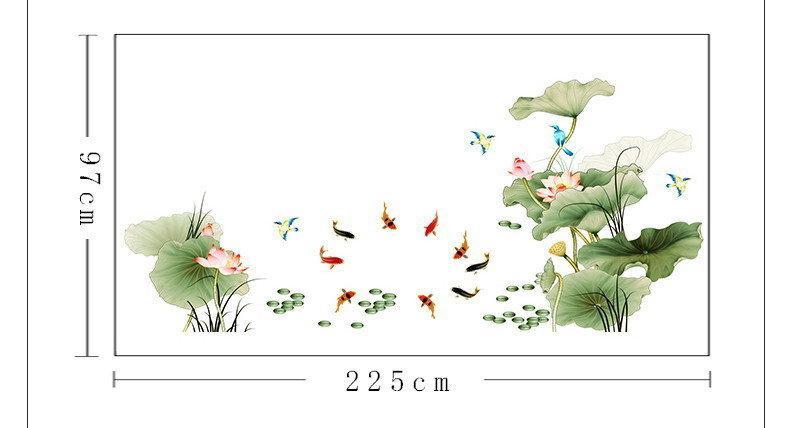 Наклейка для декора Китайский стиль Цветы