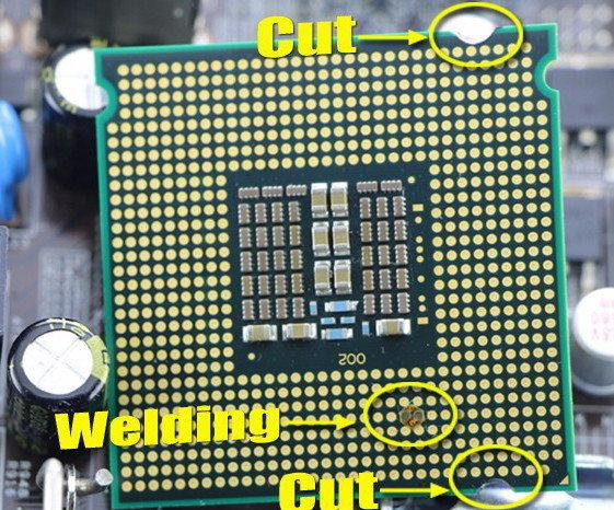 Xeon E5472 Q9650 подготовленный для 775 мат платы 4 ядра