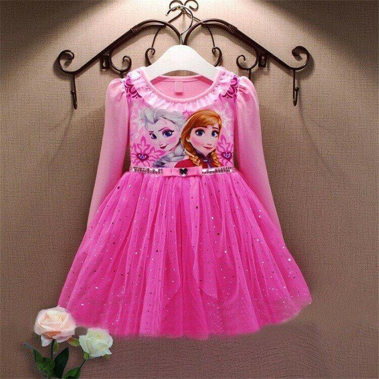 Нарядное платье принцесса Эльза и Анна 2 цвета Новинка