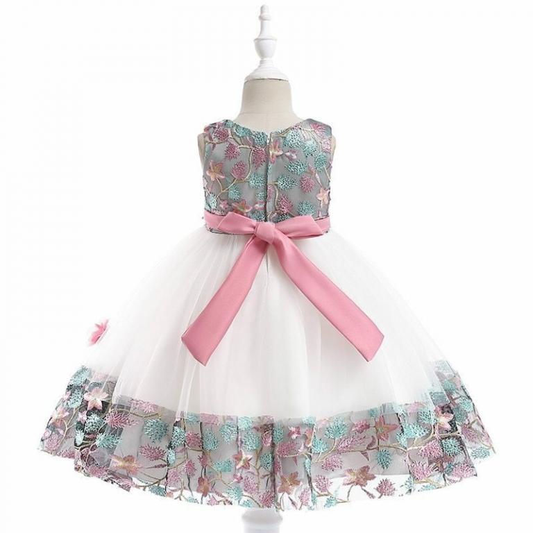 Нарядное платье Разноцветная вышивка 2 цвета Новинка