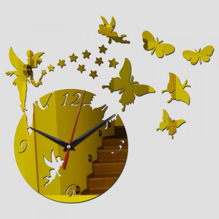 Зеркальные часы наклейки Стикеры 3 цвета