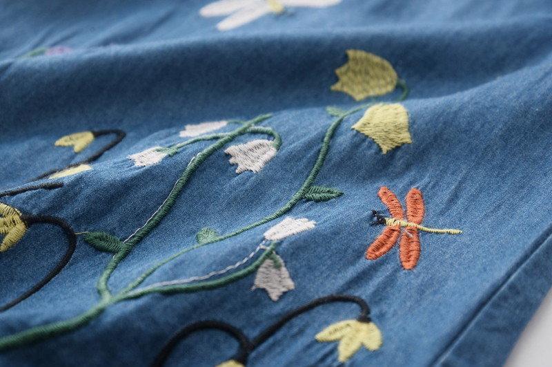 Детской летнее платье с вышивкой
