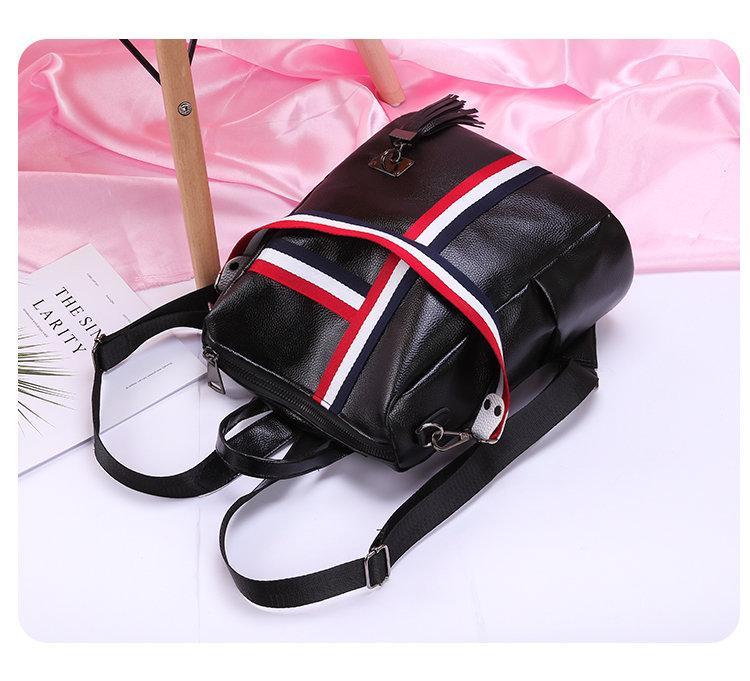 Стильный рюкзак Черный Белый Турист