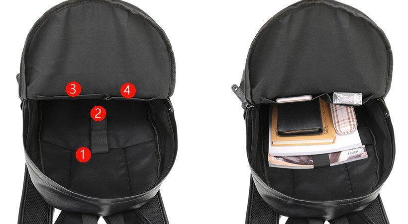 Стильный рюкзак унисекс Черный Коричневый Спорт